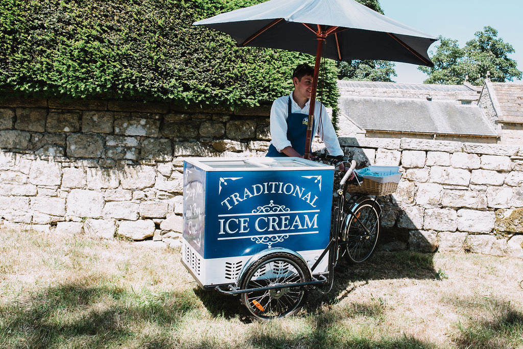 Ice Cream Cart Eco Friendly Wedding The Stag and the Doe