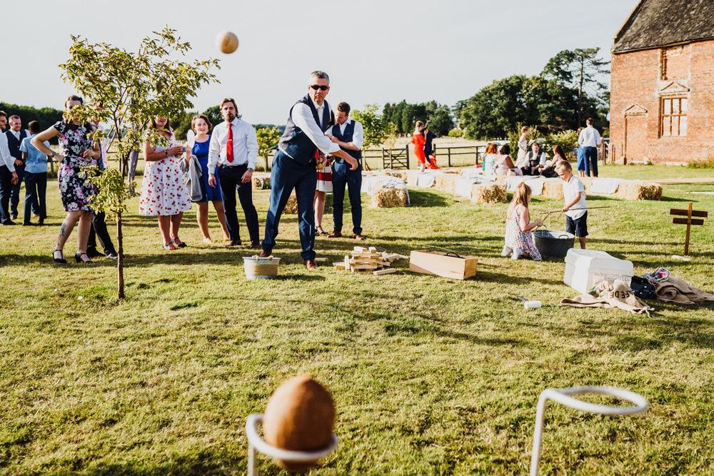 Coconut Shy Fete Game Godwick Hall Wedding Rob Dodsworth Photography