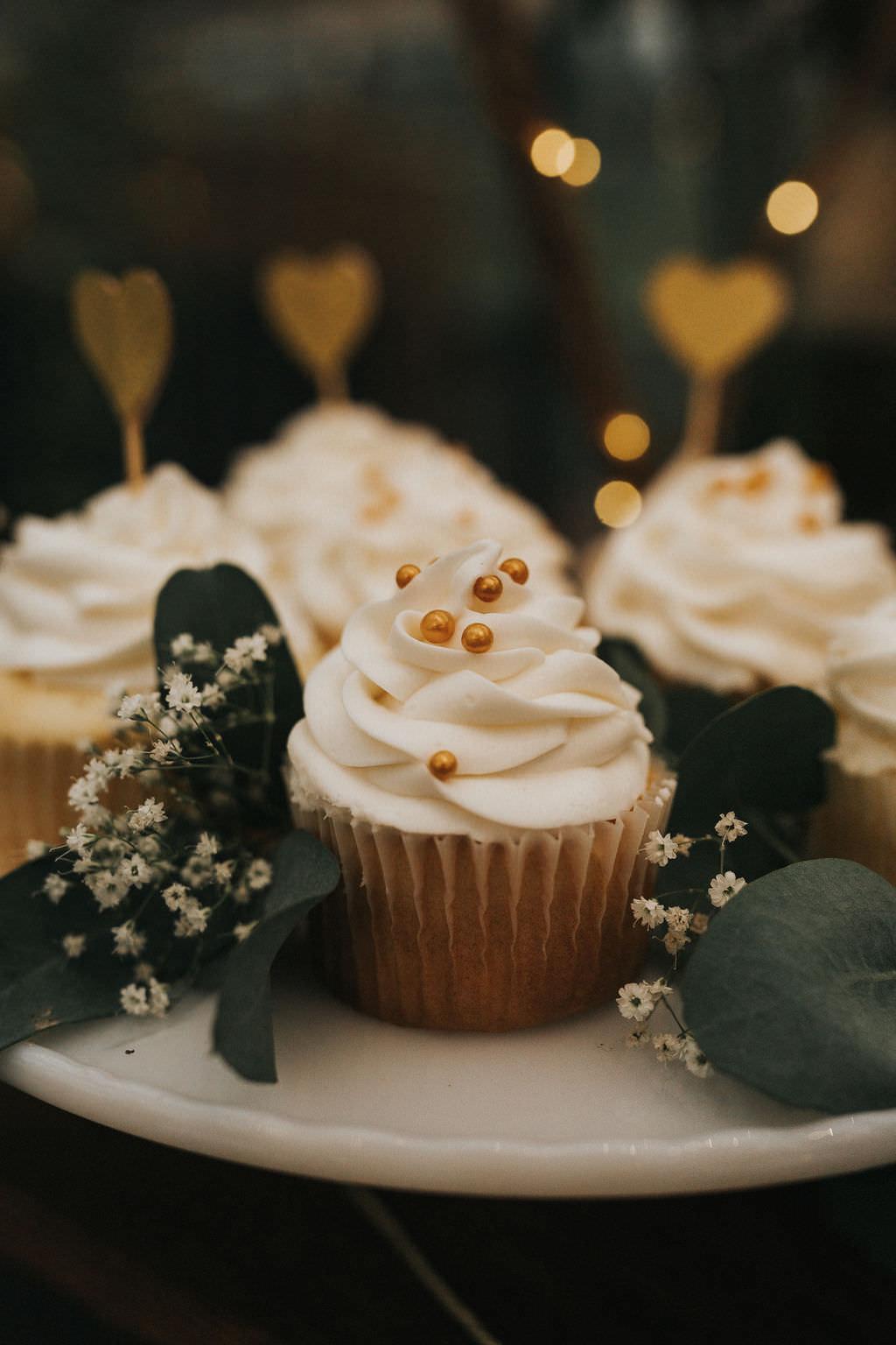 Cupcakes Dessert Greenhouse Garden Washington Wedding Beginning and End Photography