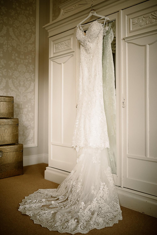 Mori Lee Lace Spaghetti Strap Dress Gown Lartington Hall Wedding Hayley Baxter Photography