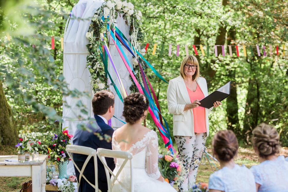 Outdoor Ceremony Celebrant Spring Cottage Rivington Wedding Emma B Photography