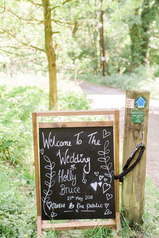 Welcome Sign Chalk Board Spring Cottage Rivington Wedding Emma B Photography