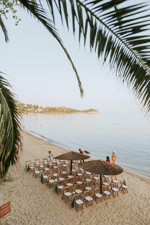 Ceremony Bohemian Beach Greece Destination Wedding Lighthouse Photography