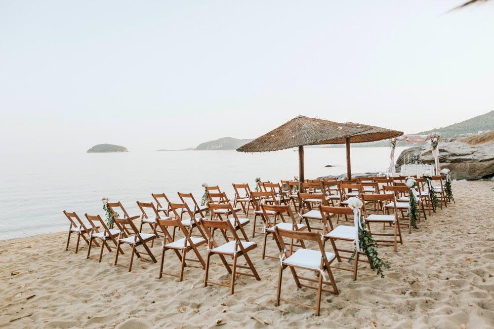 Ceremony Aisle Bohemian Beach Greece Destination Wedding Lighthouse Photography