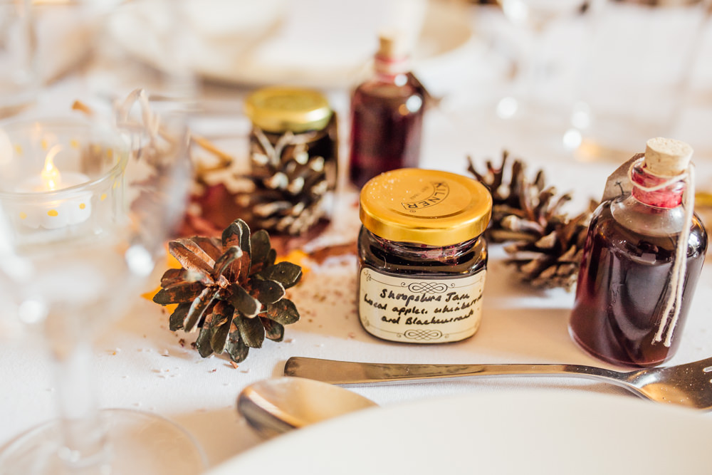 Favours Jar Jam Druidstone Wedding Florence Fox Photography