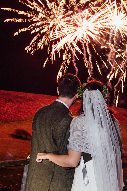 Fireworkds Druidstone Wedding Florence Fox Photography