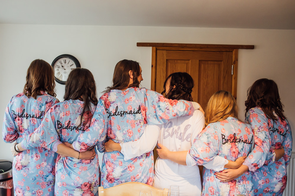 Bride Bridal Bridesmaids Robes Dressing Gowns Druidstone Wedding Florence Fox Photography