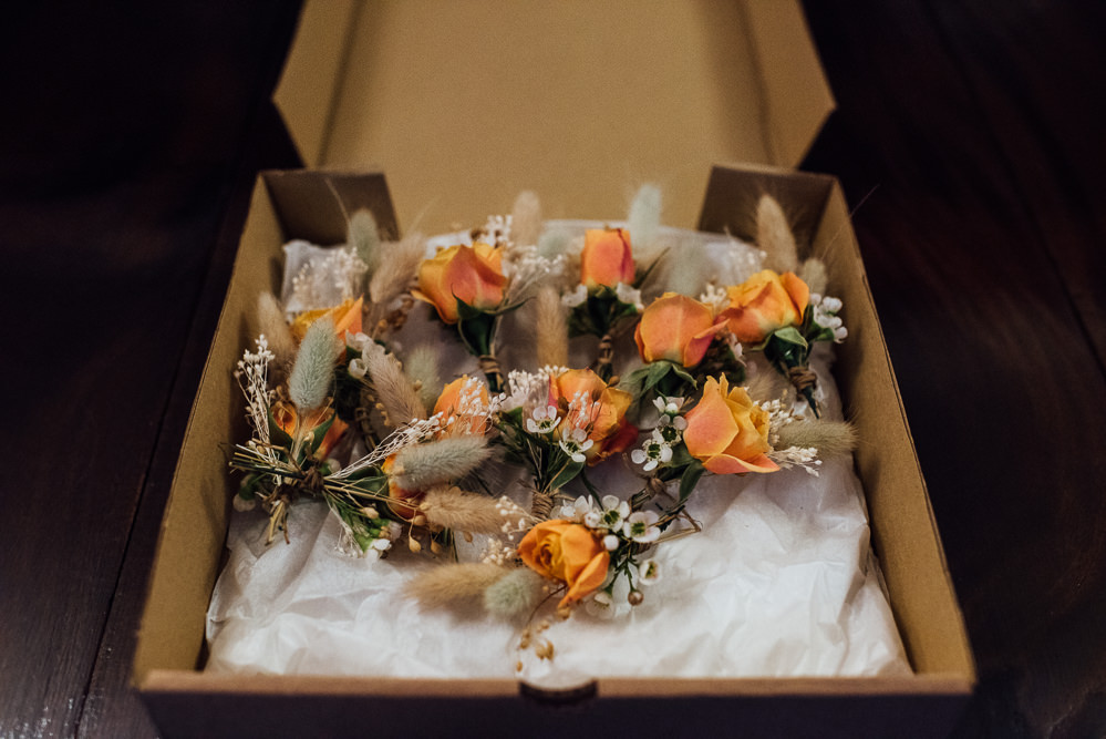 Buttonholes Flowers Orange Rose St Paul's Cathedral Wedding The Shannons Photography