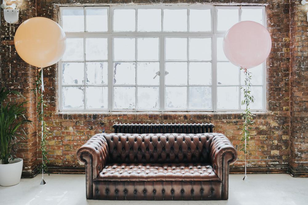 Pink Helium Balloons Wimborne House Wedding Eva Photography