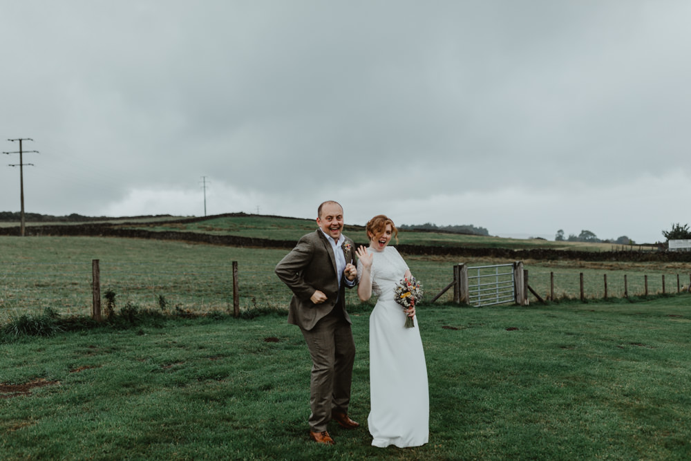 Groom Suit Brown Chilli Barn Wedding Stevie Jay Photography