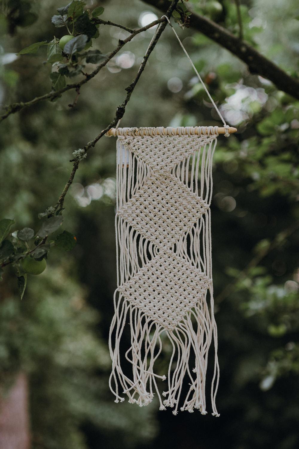 Macrame Hanging Felin Newydd House Wedding Christopherian.co.uk
