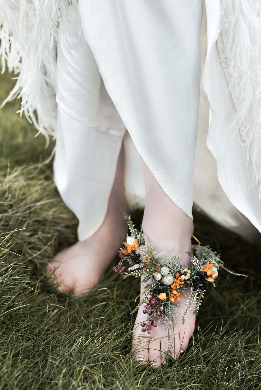 Anklet Foot Corsage Flowers Bride Bridal Game Of Thrones Wedding Tara Florence