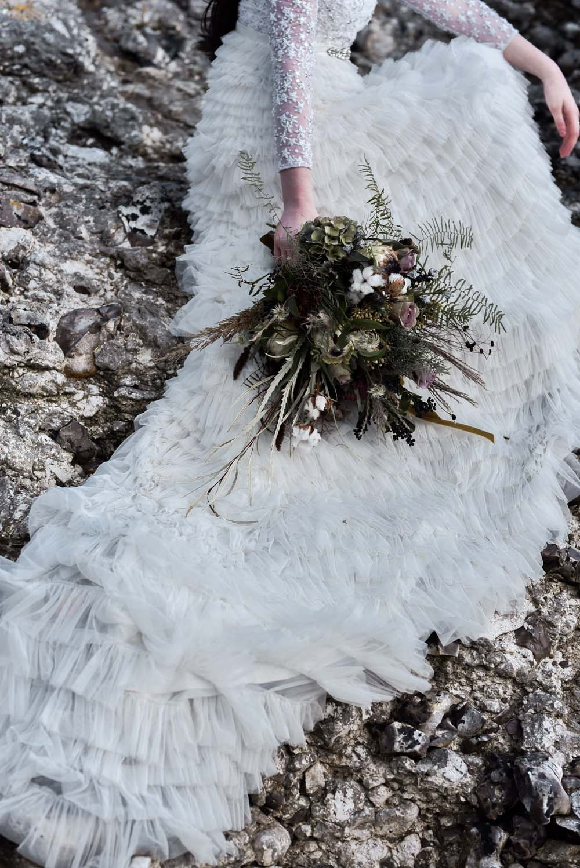 Bouquet Flowers Bride Bridal Greenery Foliage Ferns Game Of Thrones Wedding Tara Florence