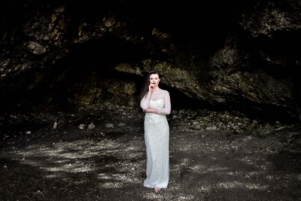 Dress Gown Bride Bridal Eliza Jane Howell Celestial Stars Starry Game Of Thrones Wedding Tara Florence