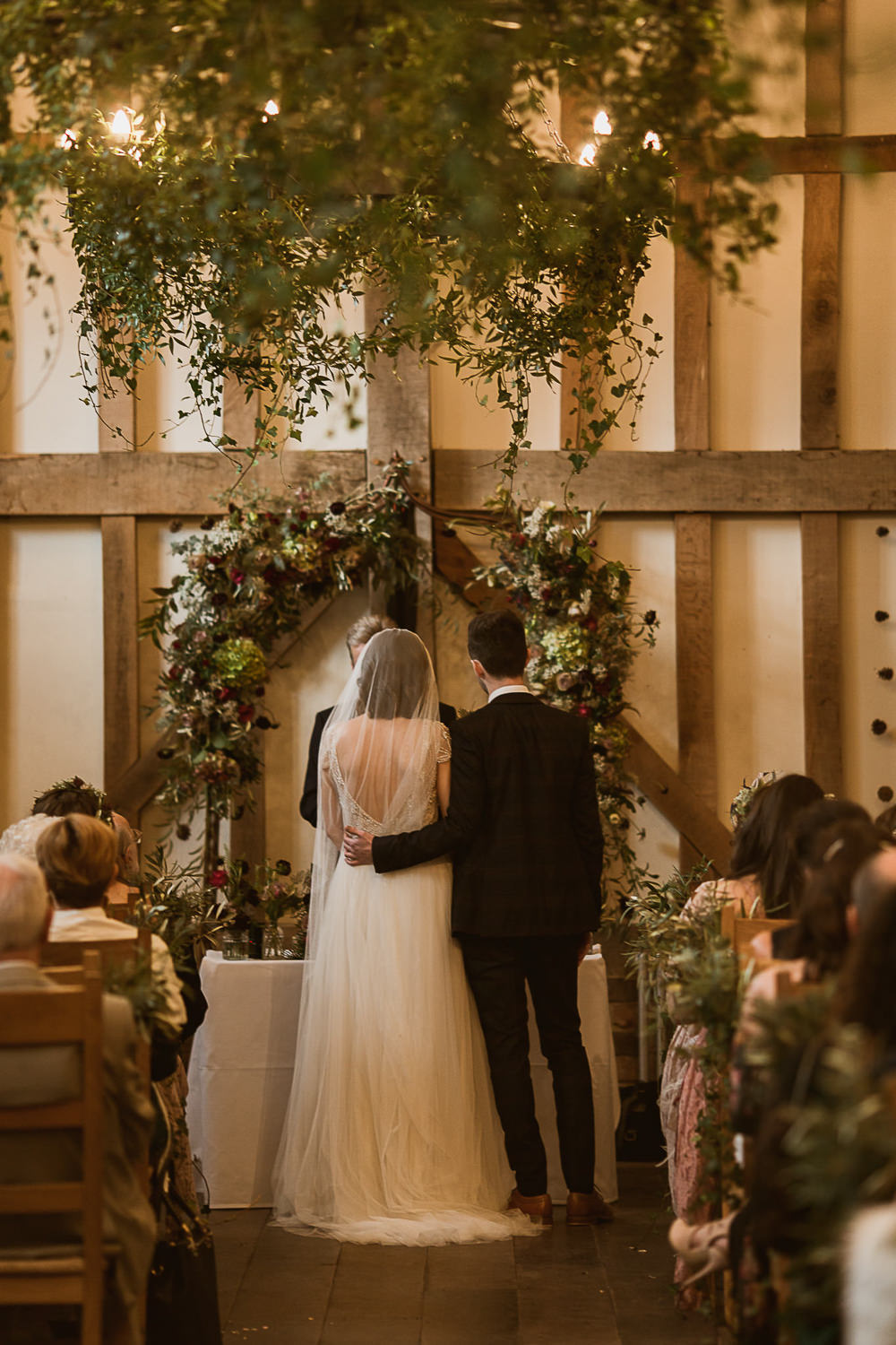 Arch Flower Floral Backdrop Ceremony Aisle Greenery Foliage Gate Street Barn Wedding The Springles