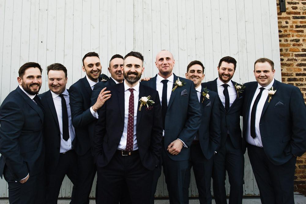 Navy Suit Groom Groomsmen Hornington Manor Wedding Chris Barber Photography