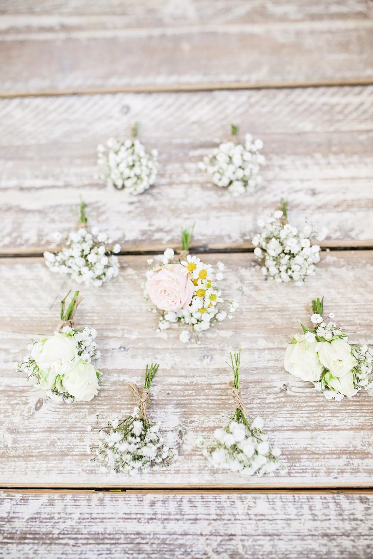 Buttonhole Flowers Gypsophila Rose Milling Barn Wedding Victoria Mitchell Photography