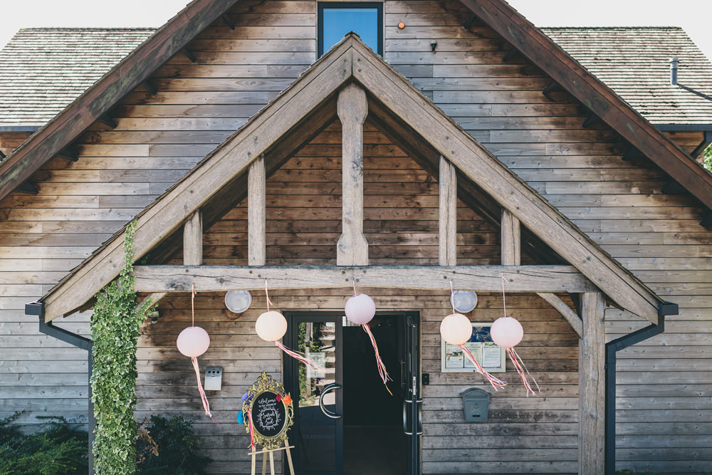 Lanterns Ribbons Decor Rock Village Hall Wedding Lucie Hamilton Photography