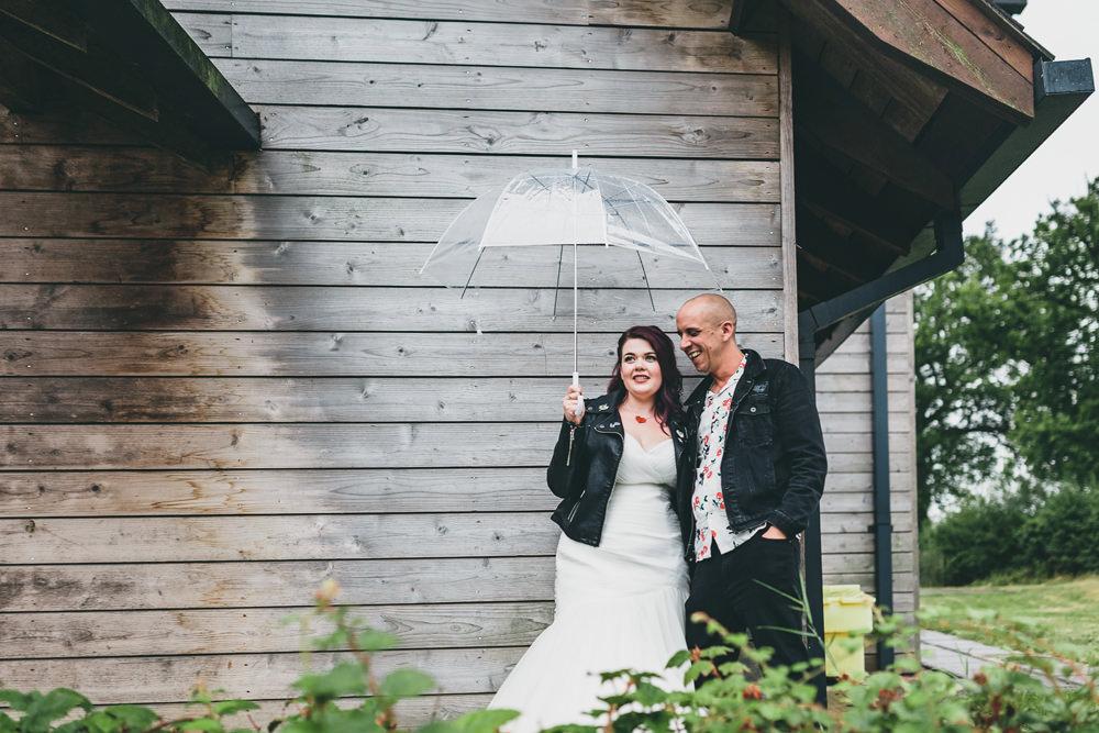 Leather Jacket Bride Bridal Rock Village Hall Wedding Lucie Hamilton Photography