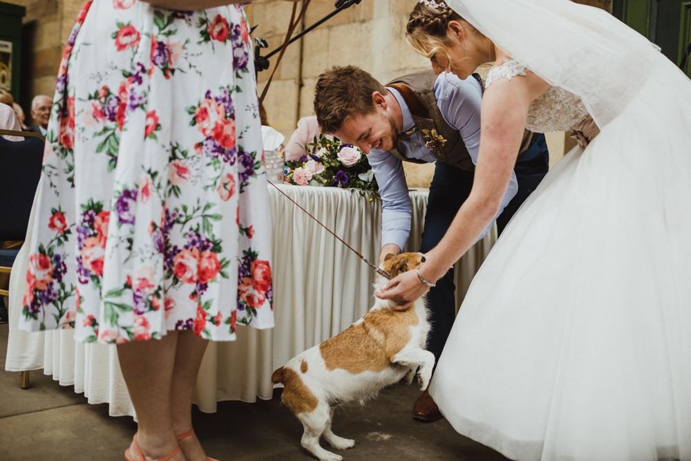 Dog Pet Train Station Harry Potter Wedding Photography34