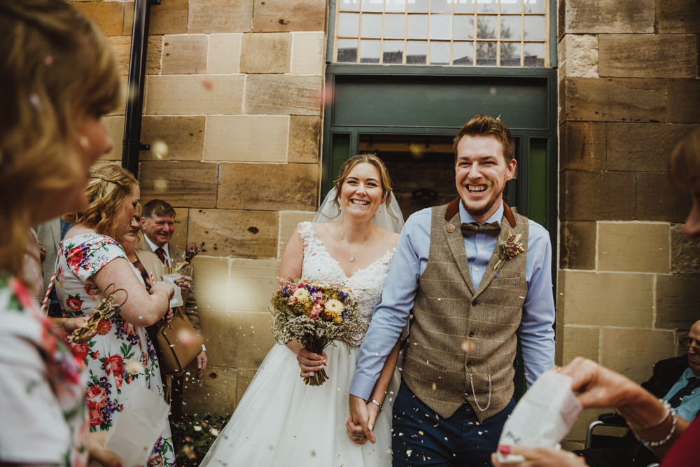 Confetti Throw Train Station Harry Potter Wedding Photography34