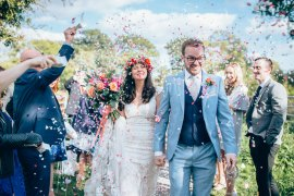 Confetti Throw Village Hall Wedding Samantha Kay Photography