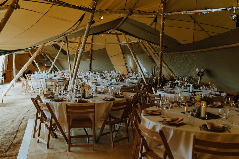 Tipi Decor Reception Venue Bre Pen Farm Wedding Nick Walker Photography