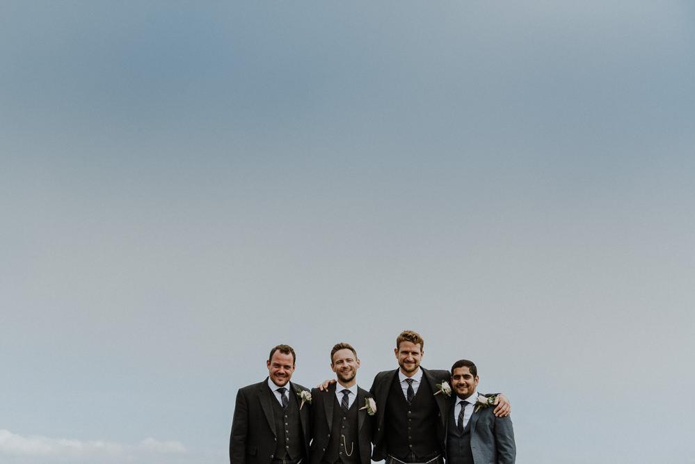 Groom Style Suit Kilt Tartan Groomsmen Bre Pen Farm Wedding Nick Walker Photography