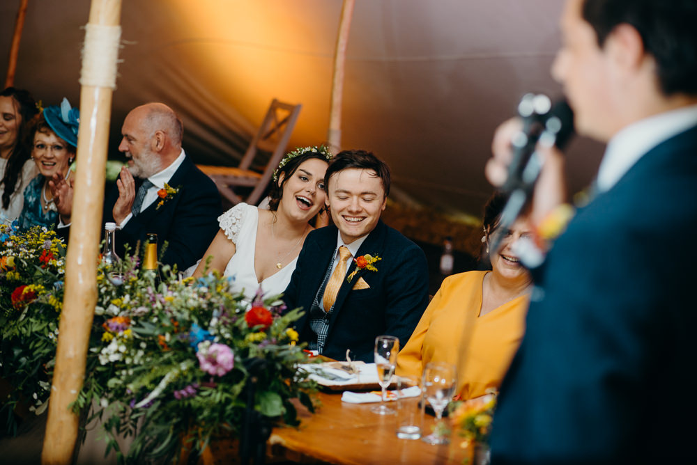 Colourful Stretch Tent Wedding Peter Mackey Photography