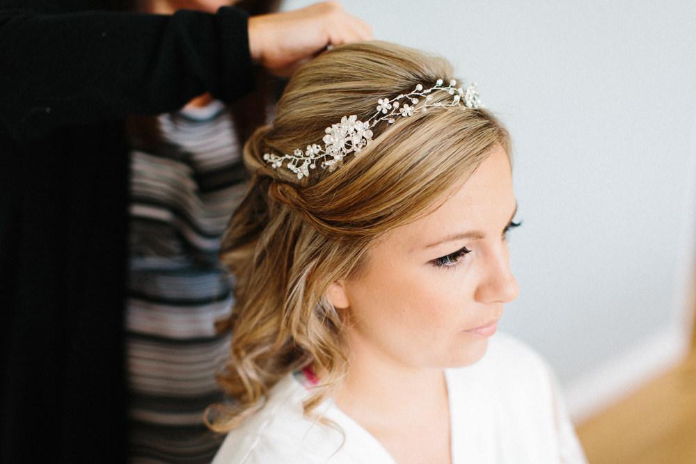 Bride Bridal Hair Vine Garden Ceremony Wedding Melissa Beattie Photography
