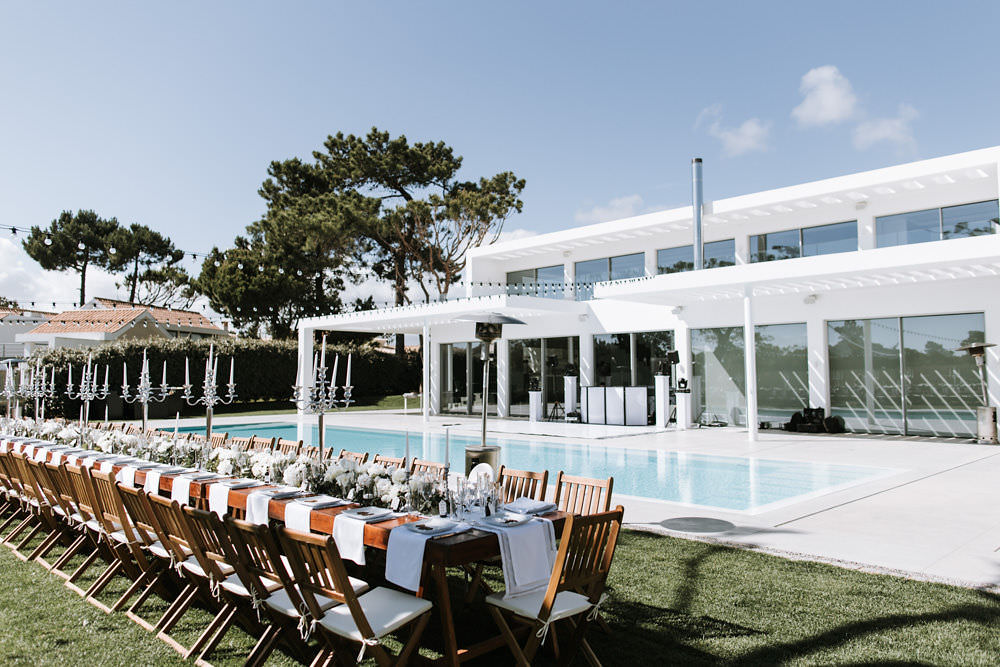 Outdoor Dining Poolside Portugal Destination Wedding Ana Parker Photography