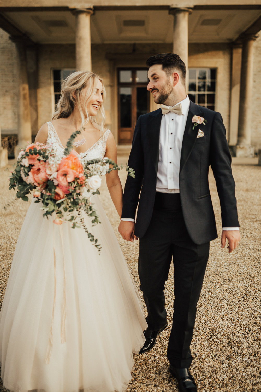 Groom Suit Tux Tuxedo Bow Tie Stubton Hall Wedding Darina Stoda Photography