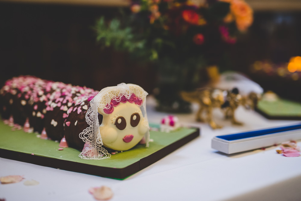 Colin Caterpillar Wedding Cake Victoria Gallery Museum Wedding Emma Hillier Photography