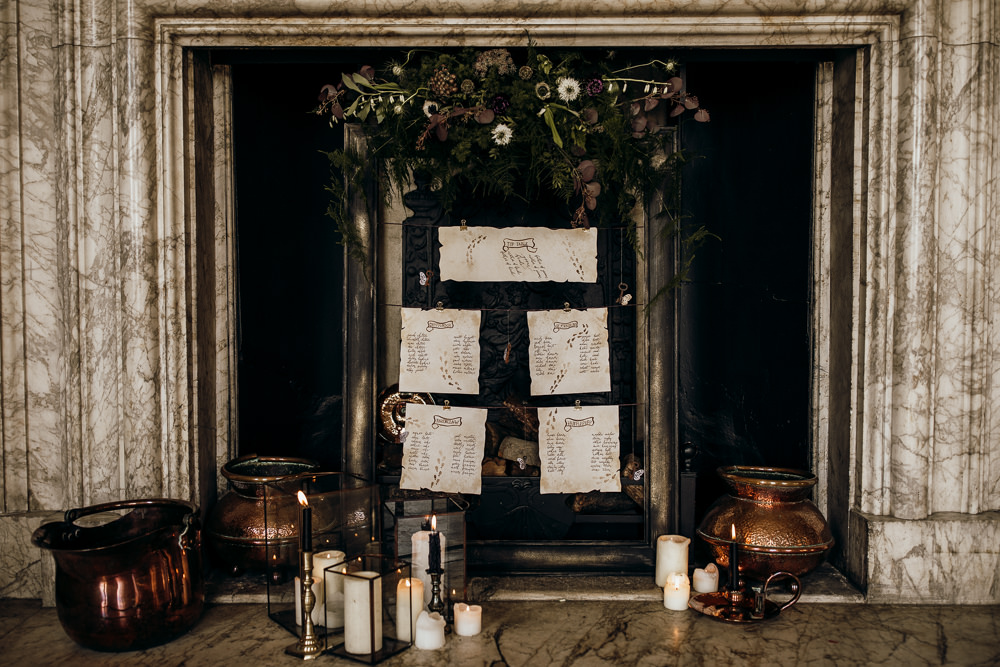 Seating Plan Table Chart Stationery Harry Potter Wedding Ideas Thyme Lane Photography