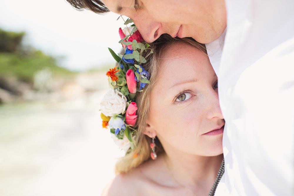 Bride Bridal Make Up Flower Crown Kefalonia Wedding Cotton Candy Weddings