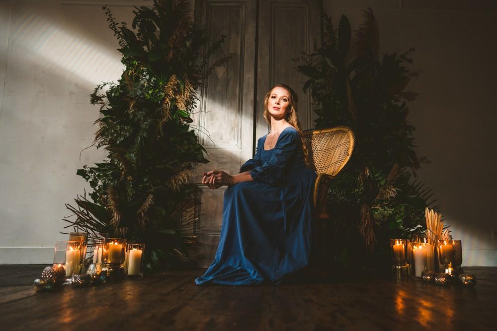 Bride Bridal Dress Gown Blue Pampas Grass Wedding Ideas Tim Stephenson Photography