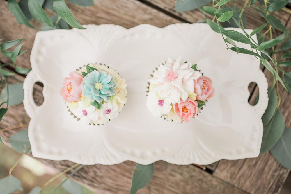 Floral Flower Cupcakes Springtime Bridal Shower Ideas Hen Party Laura Jane Photography