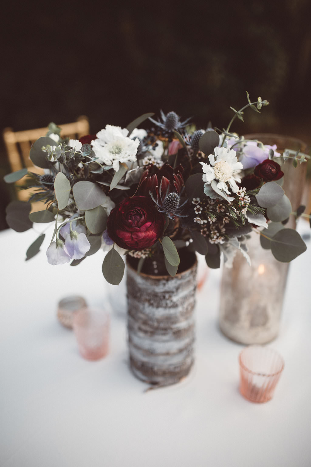 Table Flowers Centrepiece Candles Decor Charleston Wedding Katherine Dalton Photography