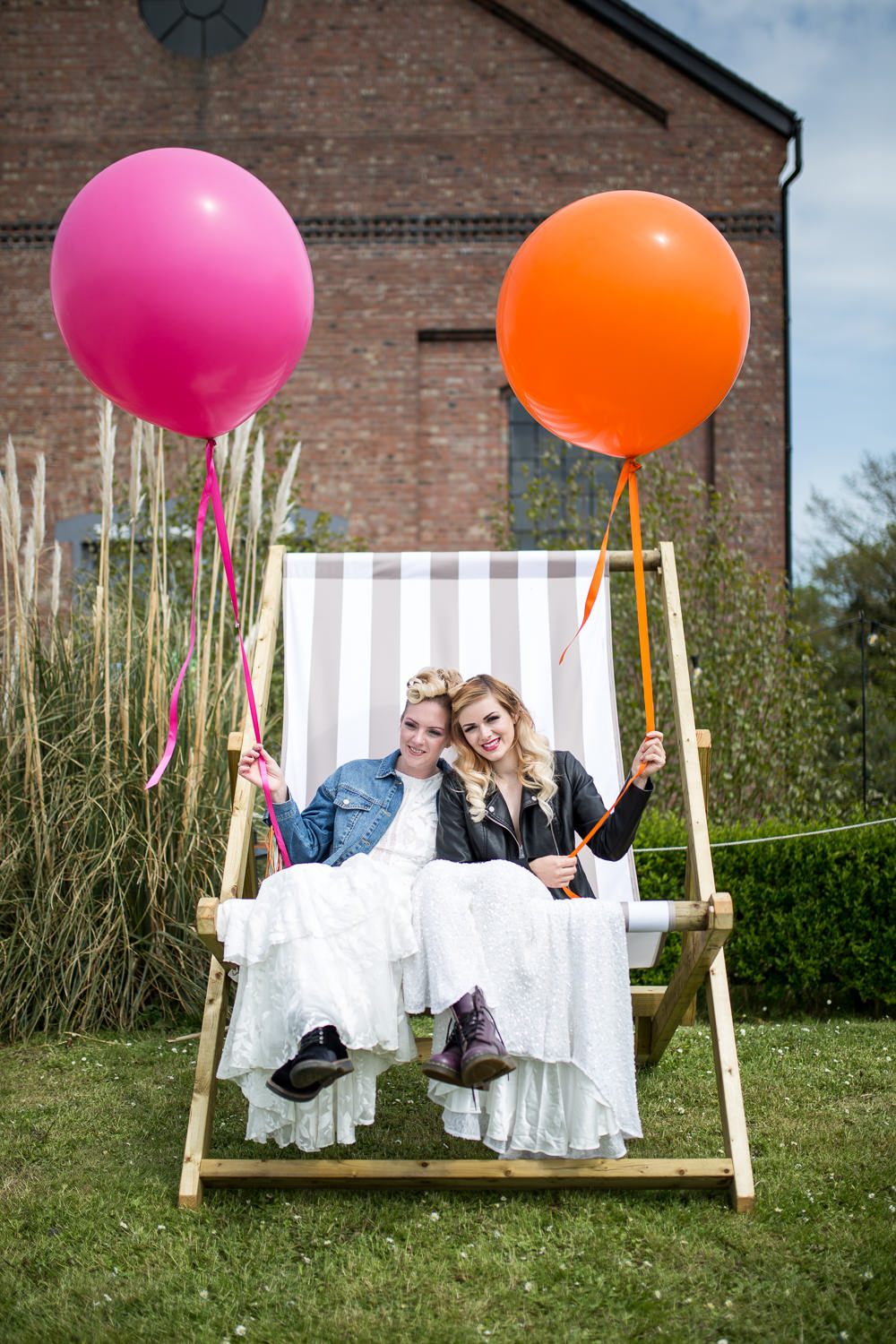 Giant Deck Chair Seating Balloons Colourful Balloons Wedding Ideas Florence Berry Photography