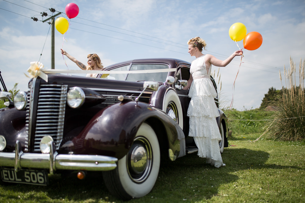 Transport Cars Vintage Colourful Balloons Wedding Ideas Florence Berry Photography