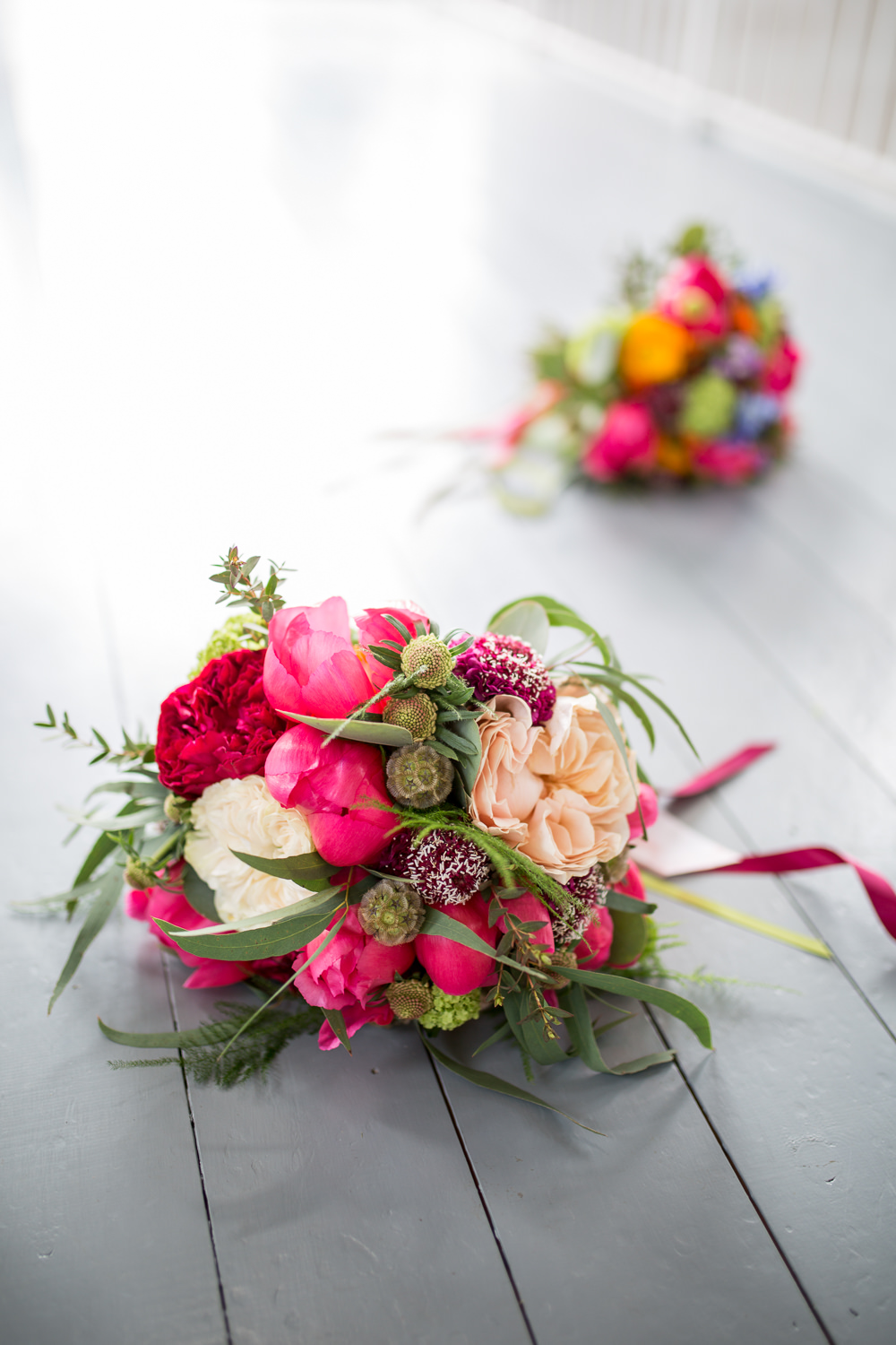 Bouquet Flowers Bride Bridal Pink Peony Rose Colourful Balloons Wedding Ideas Florence Berry Photography