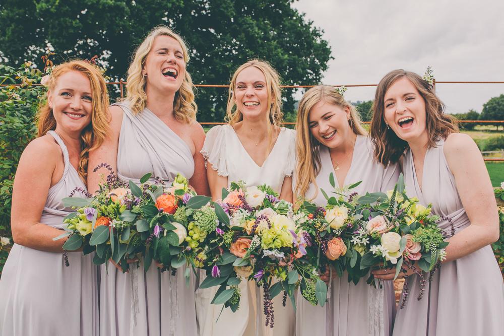 Bridesmaids Bridesmaid Dress Dresses Grey Multiway High Billinghurst Farm Wedding Larissa Joice Photography