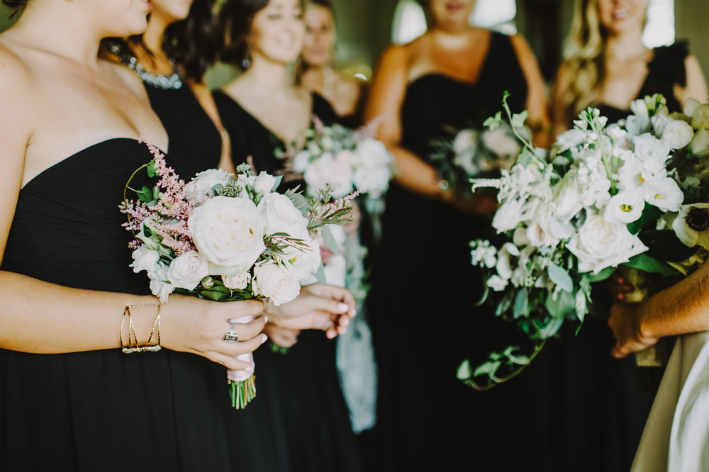 Bouquet Flowers Peony Astilbe Rose Anemone Bridesmaids Maryland Wedding L. Hewitt Photography