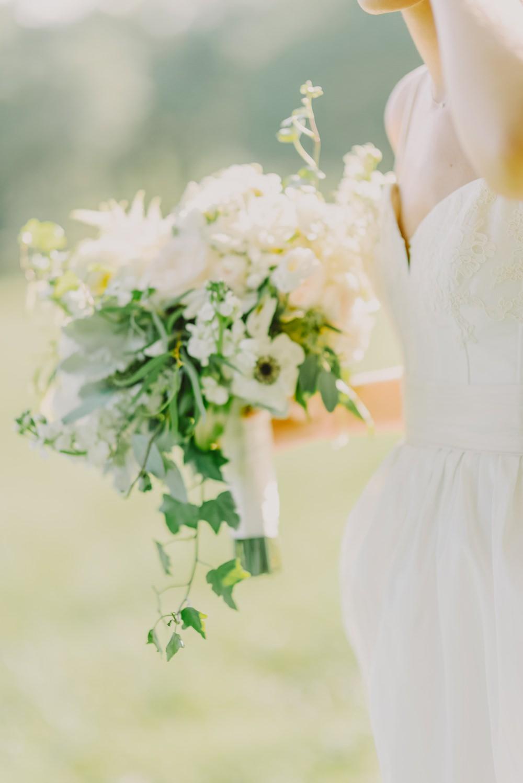 Bride Bridal Bouquet Flowers Peony Astilbe Ivy Anemone Maryland Wedding L. Hewitt Photography