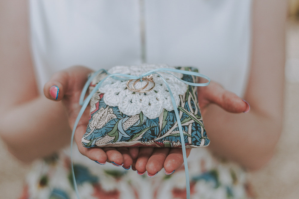 Rings Ring Pillow Cushion Wes Anderson William Morris Wedding Ideas Jessica Hill Photography