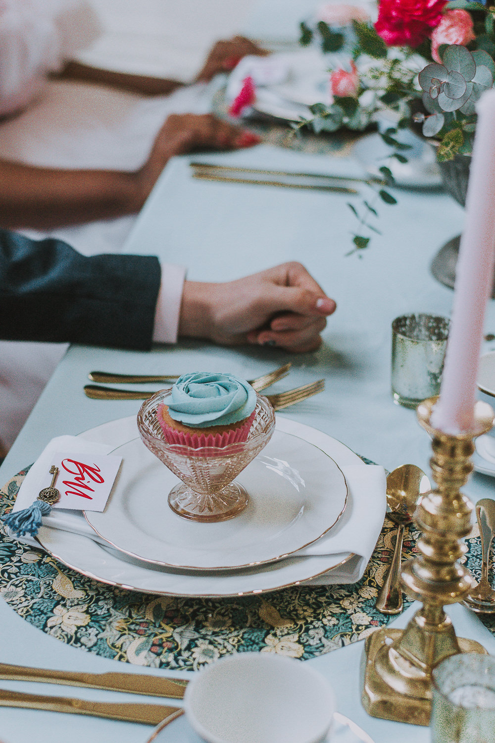 Place Setting Plate Gold Table Name Calligraphy Wes Anderson William Morris Wedding Ideas Jessica Hill Photography