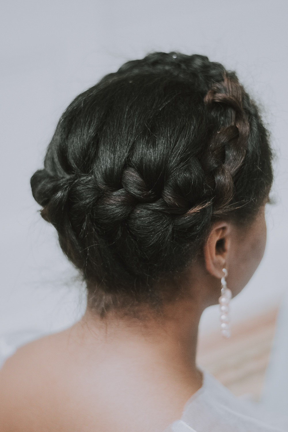 Bride Bridal Hair Style Up Do Plait Braid Halo Wes Anderson William Morris Wedding Ideas Jessica Hill Photography