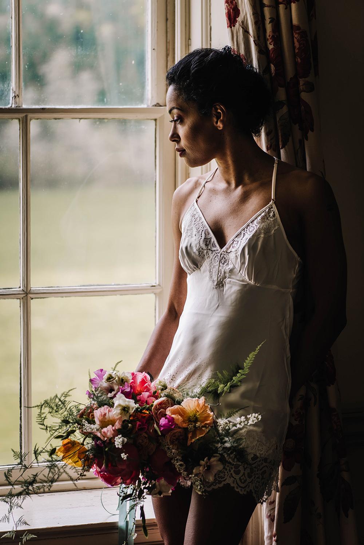 Bride Bridal Nightie Pyjamas Coral Floral Wedding Ideas Birgitta Zoutman Photography