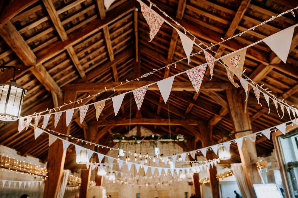 Bunting Fairy Lights East Riddlesden Hall Wedding M and G Photographic