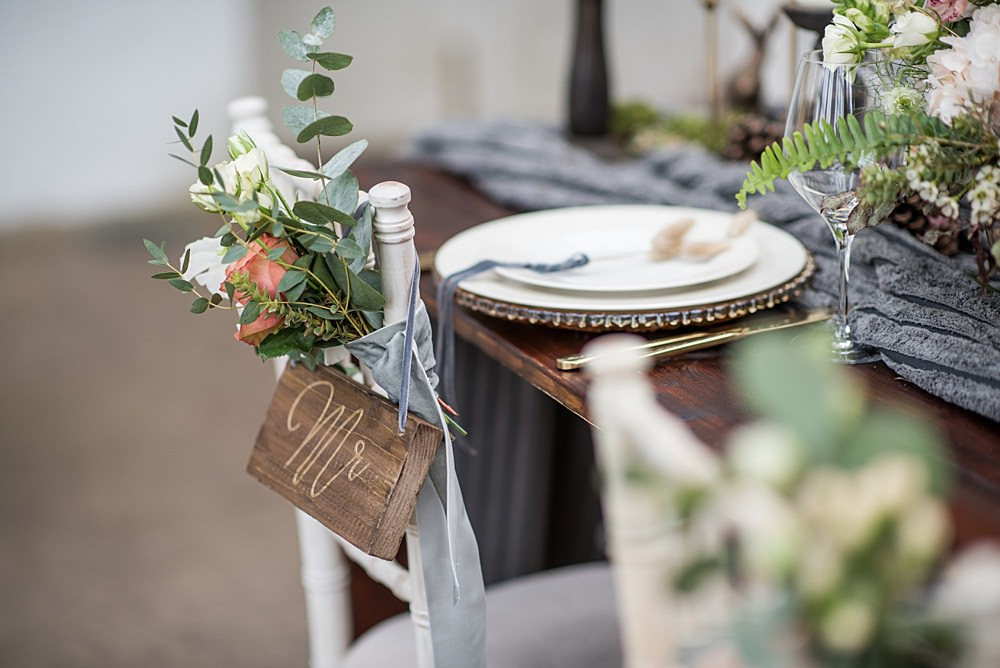 Chair Flowers Sign Signage Decor Peach Gold Wedding Ideas Jane Beadnell Photography